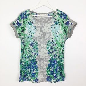 Coldwater Creek Silky Floral Print Top